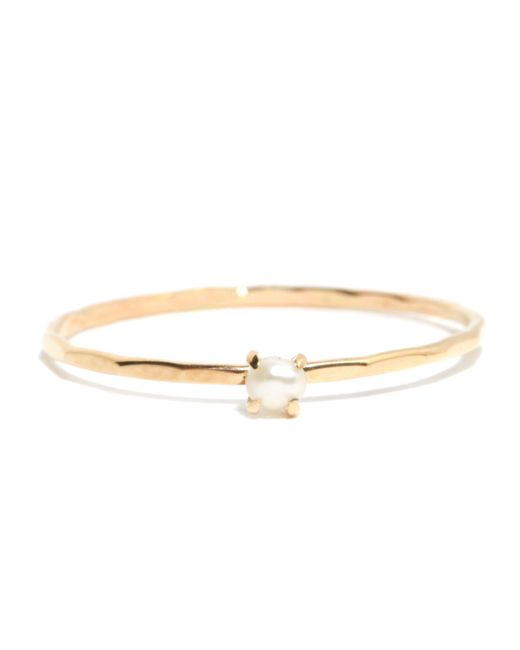 Melissa Joy Manning | Metallic Prong Set Pearl Ring | Lyst