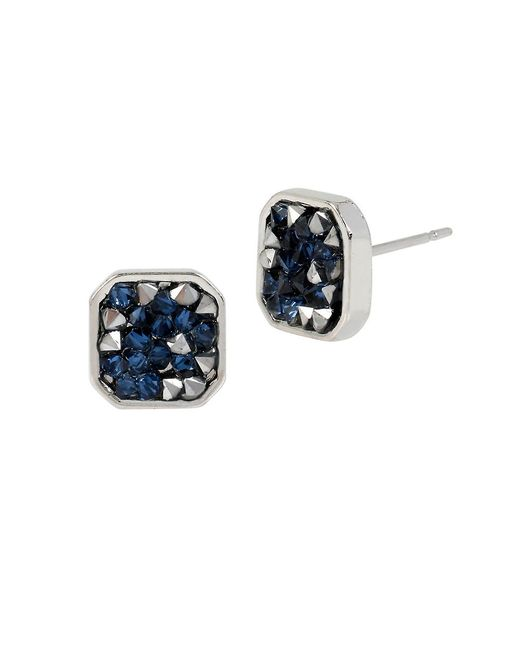 Kenneth Cole | Metallic Sprinkled Stone Stud Earrings | Lyst