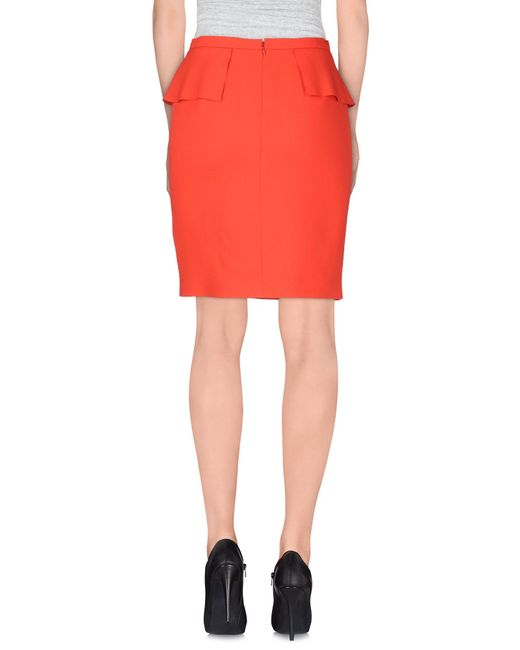 emilio pucci knee length skirt in pink coral