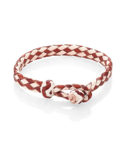 Chamula | Brown Woven Leather Bracelet | Lyst