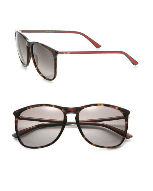 Gucci   Black 57mm Square Sunglasses   Lyst