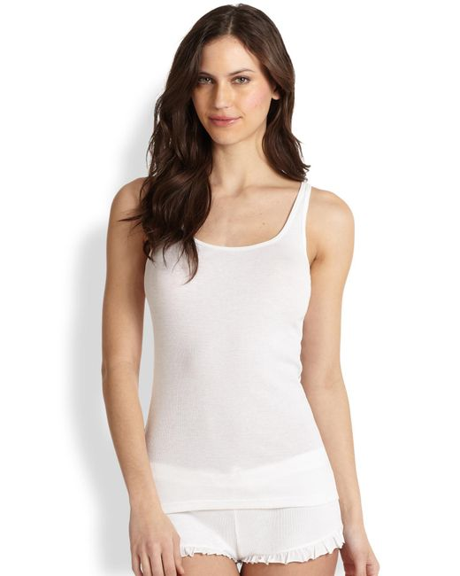 Skin | White Essential Ribbed Tank Top | Lyst