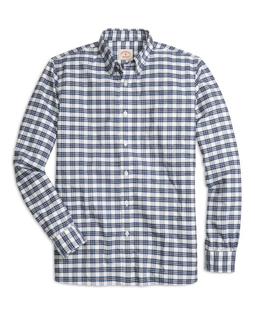 Brooks brothers supima cotton plaid sport shirt in blue for Brooks brothers tall shirts