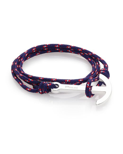 Miansai | Blue Modern Anchor Maritime Rope Wrap Bracelet for Men | Lyst