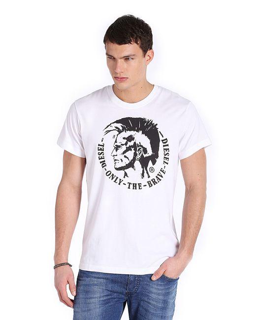 DIESEL | White T-joe Panelled Mohawk T-shirt for Men | Lyst