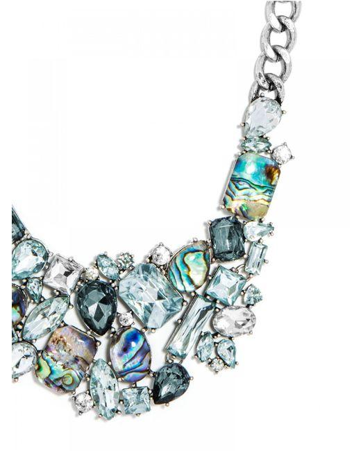 BaubleBar   Metallic Crystal Abalone Bib   Lyst