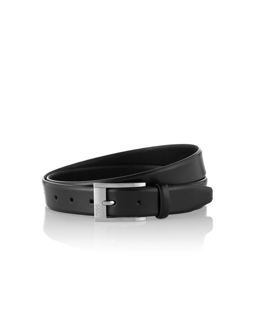 HUGO | Black Smooth Leather Belt: 'c-brandon' for Men | Lyst