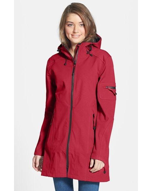 Ilse Jacobsen | Red 'rain 7b' Hooded Water Resistant Coat | Lyst