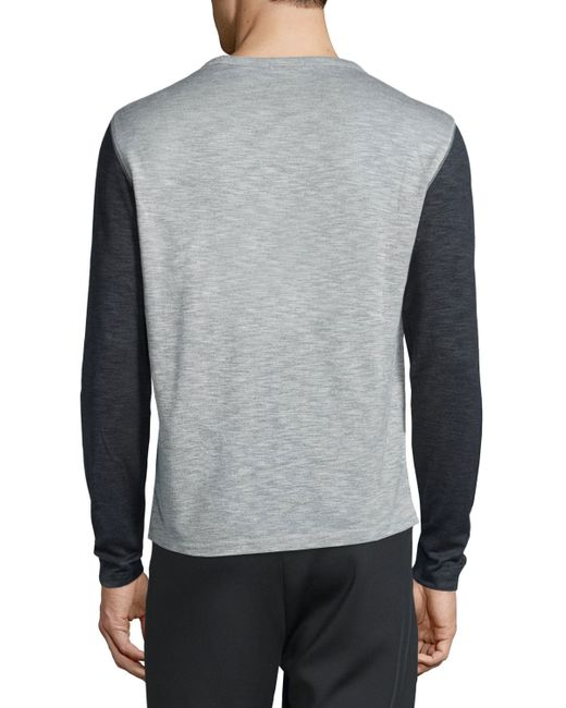 Theory Billey B Anemone Colorblock Long Sleeve Shirt In