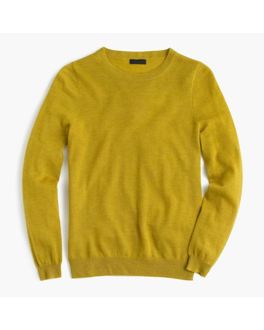 Italian featherweight cashmere long sleeve t shirt for Yellow long sleeved t shirt