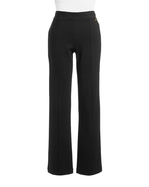 Calvin Klein | Black Powerstretch Straight-leg Pants | Lyst