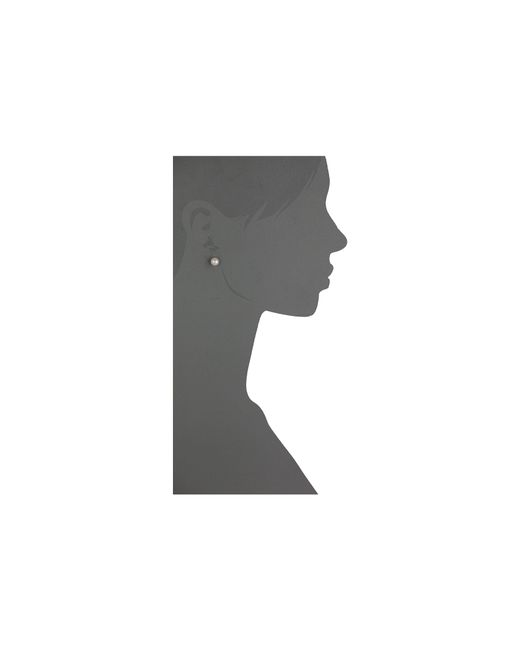 Majorica | White 8mm Stud Earrings | Lyst