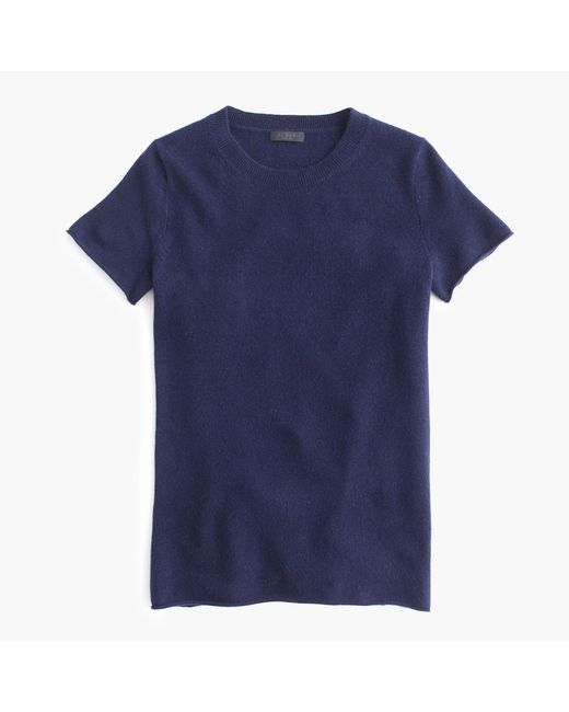 J.Crew | Blue Italian Cashmere Short-sleeve T-shirt | Lyst
