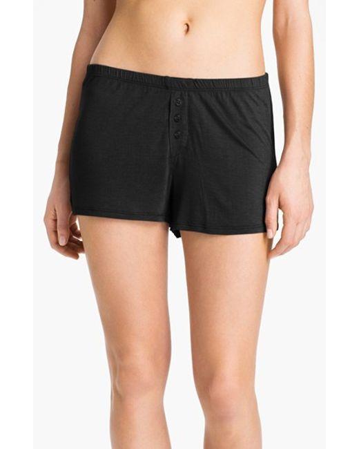 Pj Salvage | Black 'rayon Basics' Shorts | Lyst