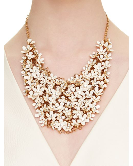 Kate Spade New York Pretty Petals Statement Necklace In