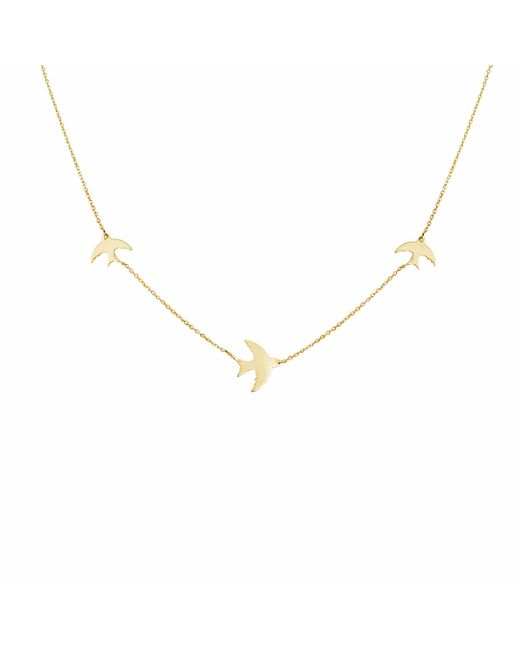 Talia Naomi | Metallic Fly Me To The Moon Necklace Gold | Lyst