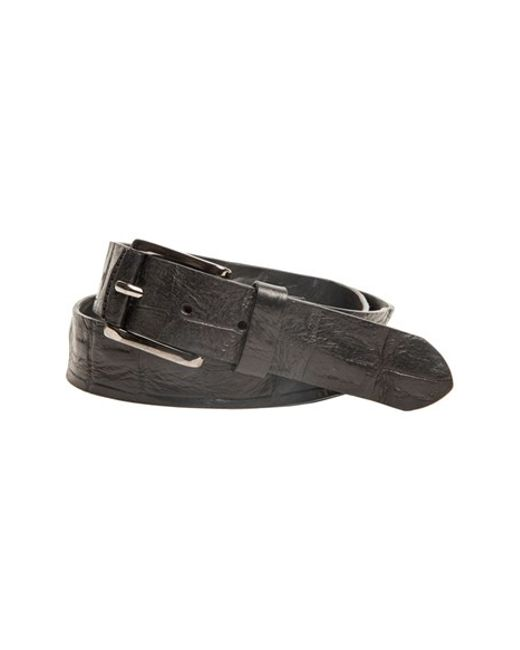 Trafalgar | Black 'strafford' Crocodile Leather Belt for Men | Lyst