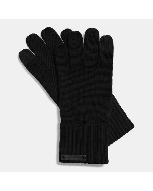 COACH | Black Knit Tech Glove | Lyst