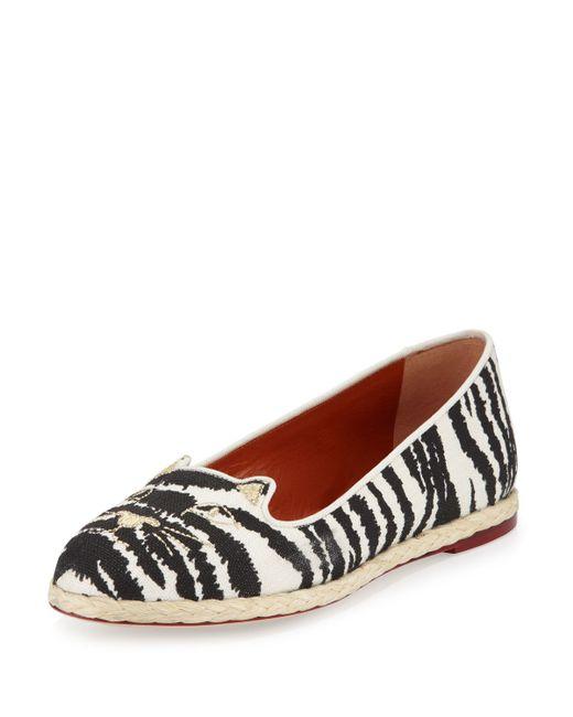 Womens Zebra Print Flat Shoes