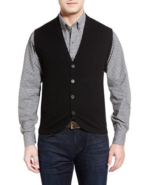 Black Sweater Vest Men 85