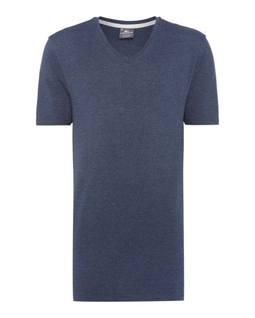 Lacoste | Blue Nightwear V-neck T-shirt for Men | Lyst