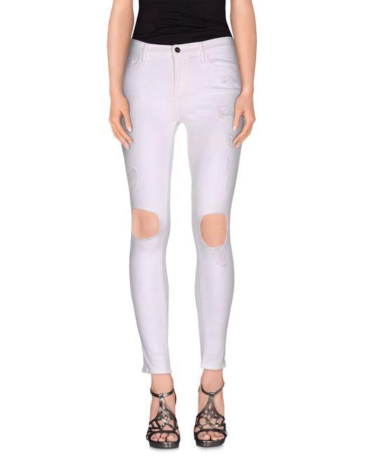 FRAME | White Denim Pants | Lyst
