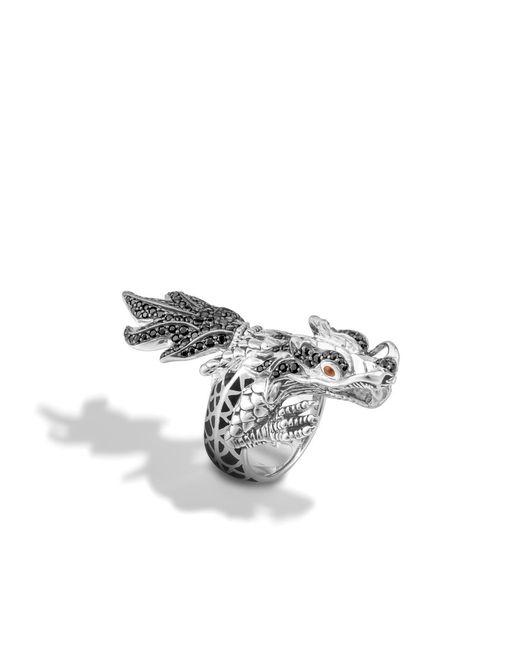 John Hardy   Black Legends Naga Dragon Wrap Ring   Lyst