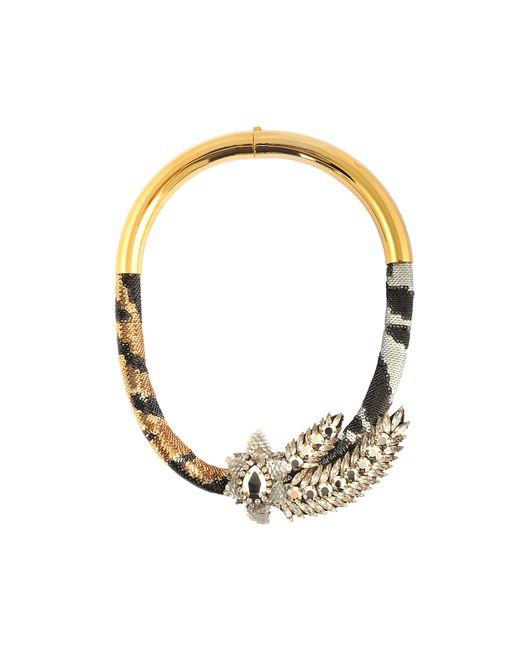 Shourouk | Metallic Aigrette Tiger Comet Necklace | Lyst