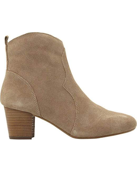 steve madden hipstir suede boots in brown taupe suede lyst