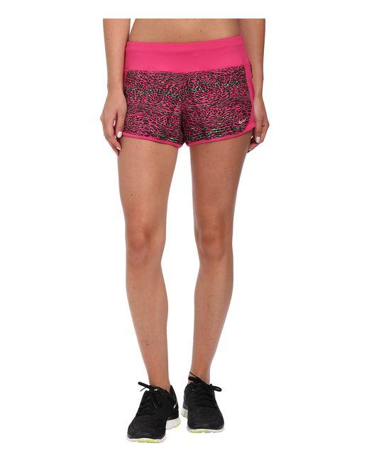 Nike | Pink Dri-fit™ Crew Print Shorts | Lyst