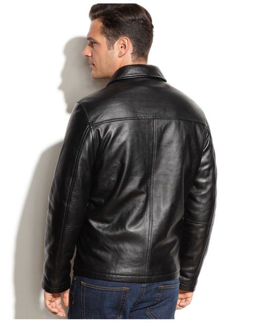 Izod | Black Leather Bomber Jacket for Men | Lyst