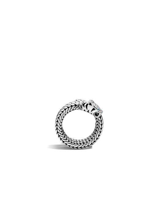John Hardy | Metallic Macan Coil Ring With Diamonds | Lyst