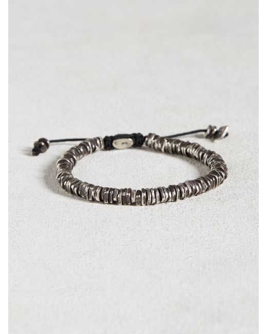 John Varvatos | Metallic Oxidized Sterling Silver Bracelet for Men | Lyst