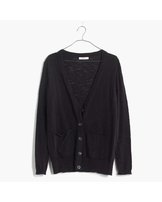 Madewell | Black Graduate Cardigan Sweater | Lyst