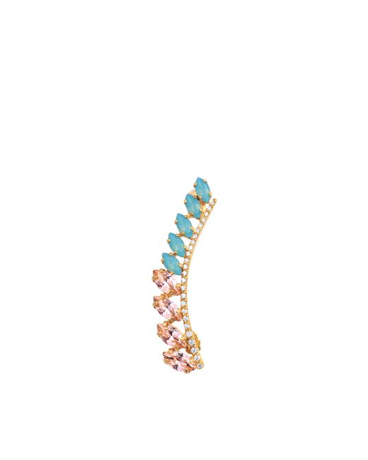 Joanna Laura Constantine   Multicolor Crystals Pave Earring   Lyst
