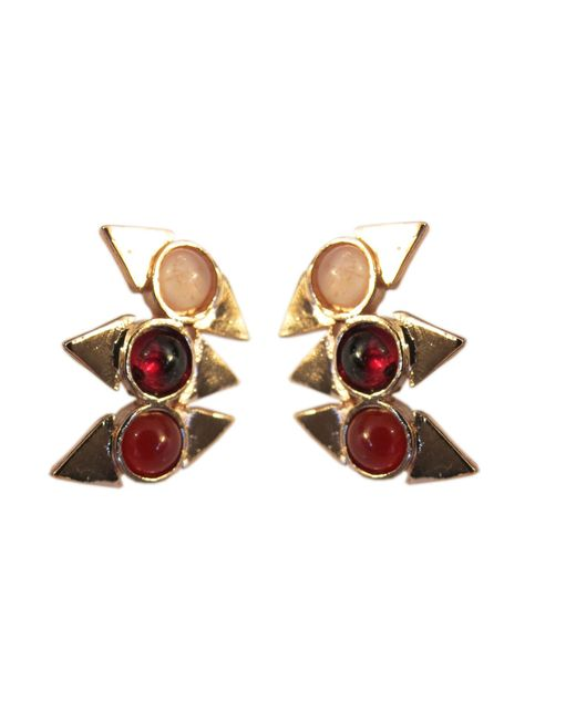 Jill Golden | Pink Triple Reflection Earring | Lyst
