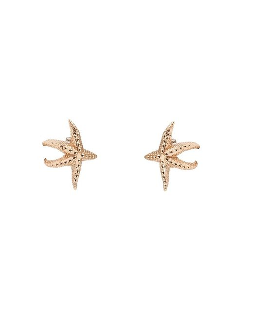 Bernard Delettrez | Metallic Sea Star Gold Earrings | Lyst