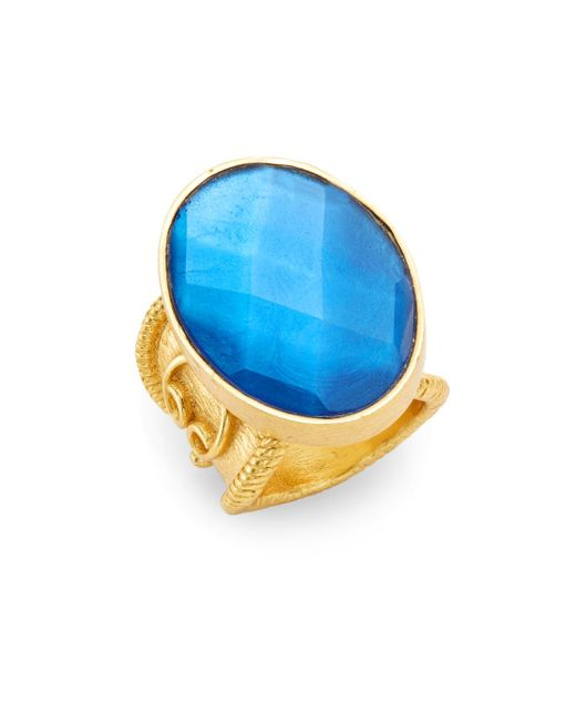 Stephanie Kantis | Metallic Casablanca Faceted London Blue Crystal Ring | Lyst