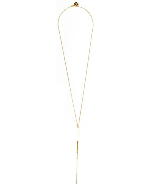 Cloverpost | Yellow Excess Bar Necklace | Lyst
