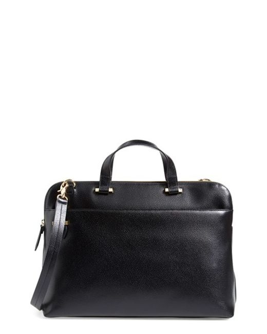Lodis | Black Medium Jamie Rfid Leather Briefcase | Lyst