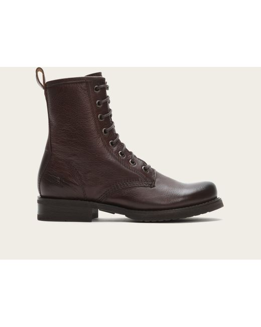 Frye | Brown Veronica Combat | Lyst