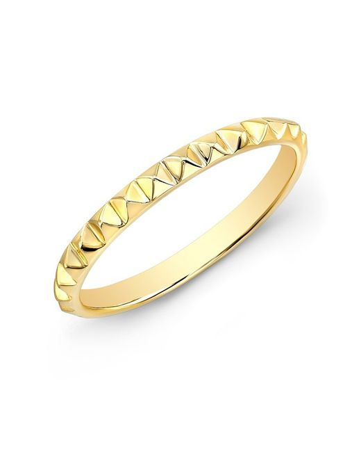 Anne Sisteron | Metallic 14kt Yellow Gold Pyramid Stacking Ring | Lyst