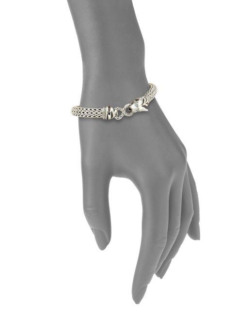 John Hardy | Metallic Legends Macan Swiss Blue Topaz & Sterling Silver Small Bracelet | Lyst