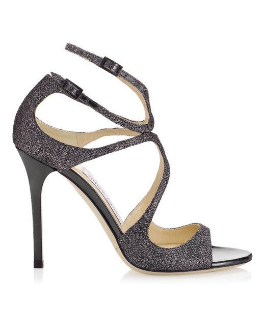 Jimmy Choo | Silver Ivette Light Bronze Lamé Glitter Sandals | Lyst