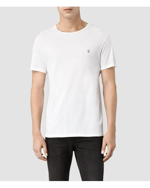 AllSaints | White Brace Tonic Crew T-shirt Usa Usa for Men | Lyst