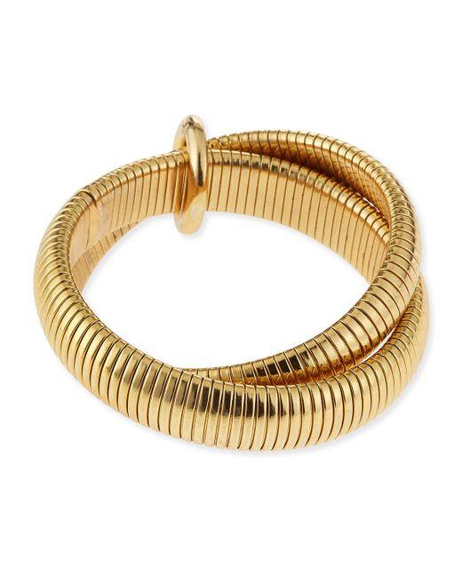 Diane von Furstenberg | Metallic Gemma Interlocking Bangle Bracelet | Lyst