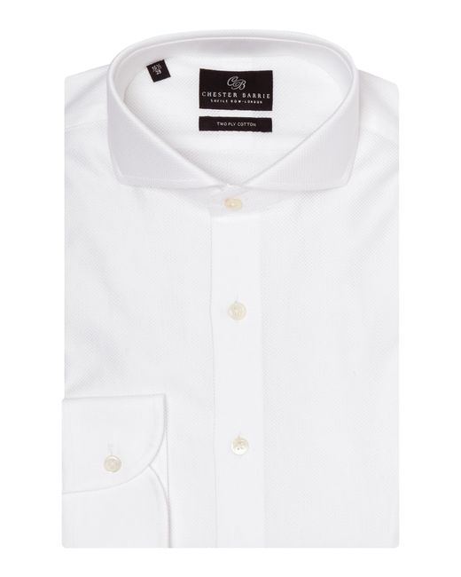 Chester Barrie | White Plain Tailored Fit Cutaway Collar Formal Shirt for Men | Lyst