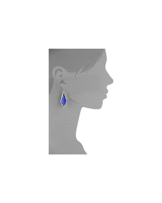 Kendra Scott   Blue Alex Earring   Lyst