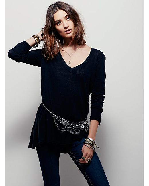 Free People | Black We The Free Anna Tee | Lyst