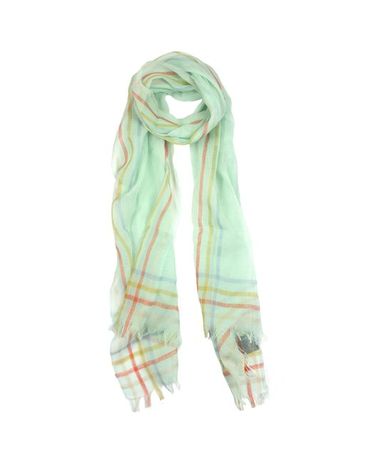 dents striped edge woven scarf in yellow citrus